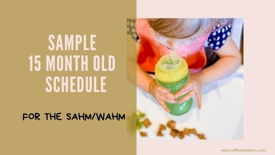 Sample 15 month old schedule for stay at home moms and work at home moms